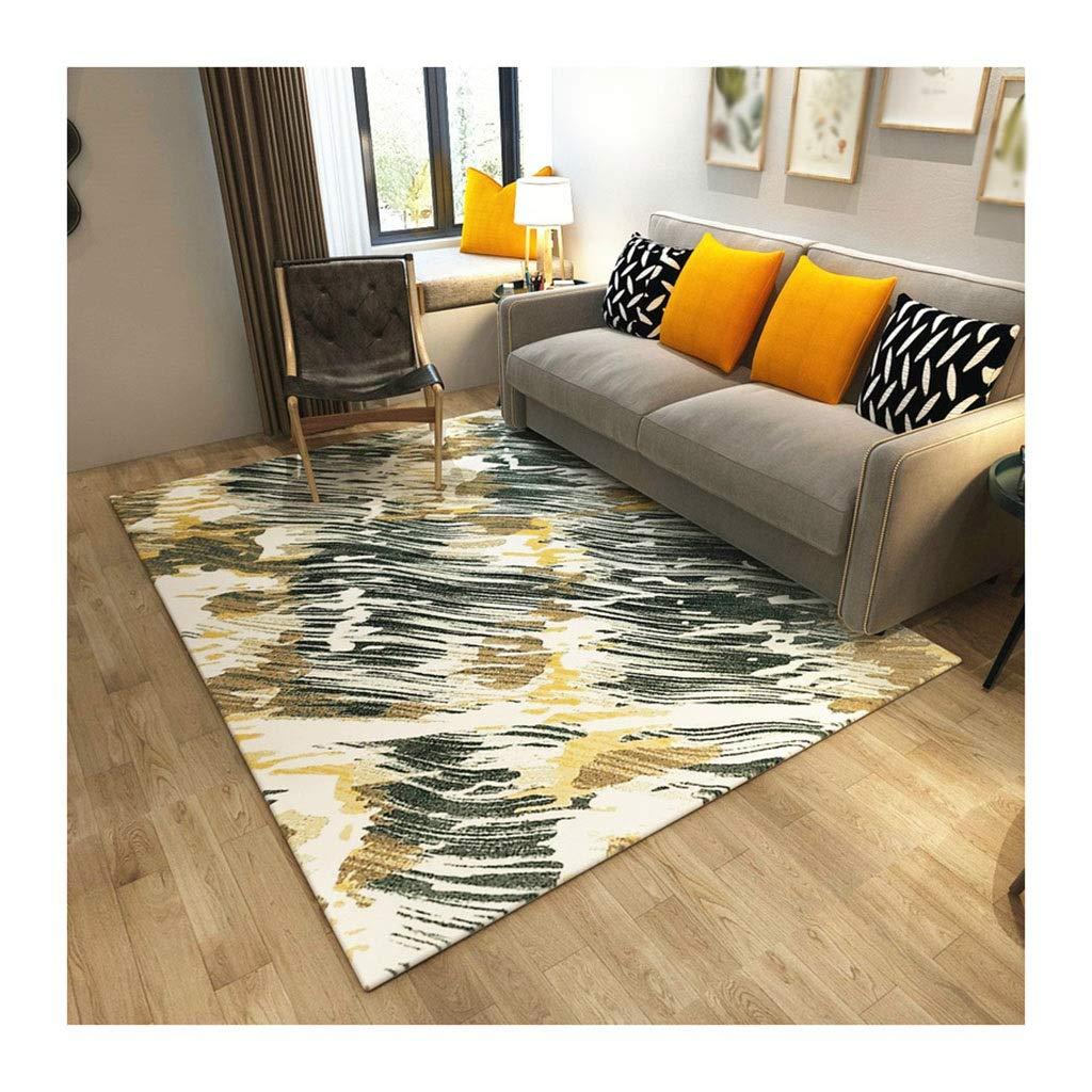 Unbekannt Wohnzimmer Teppich Teppich gemischt Kurze Flusen Moderne abstrakte Kunst Sofa Couchtisch Teppich Wohnzimmer Schlafzimmer Bett Rutschfester Teppich Decken (Farbe : C, größe : 120cm*160cm)