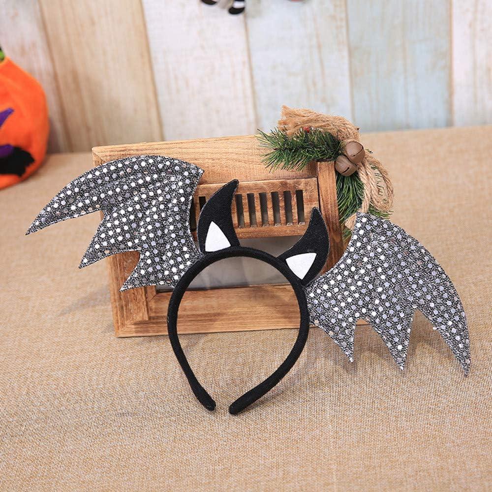 Hongxin Hair Hoop,1PC Halloween Cute Bat Shape Headband Decoration Ornament Hair Hoop Festival Decor