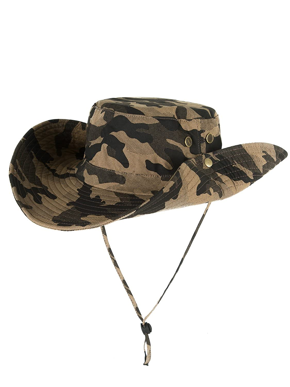 aa09c8b09 Choies Unisex Outdoor Waterproof Boonie Hat Sun Protection Wide Brim  Breathable Fishing Sun Hat HCD00ZY491
