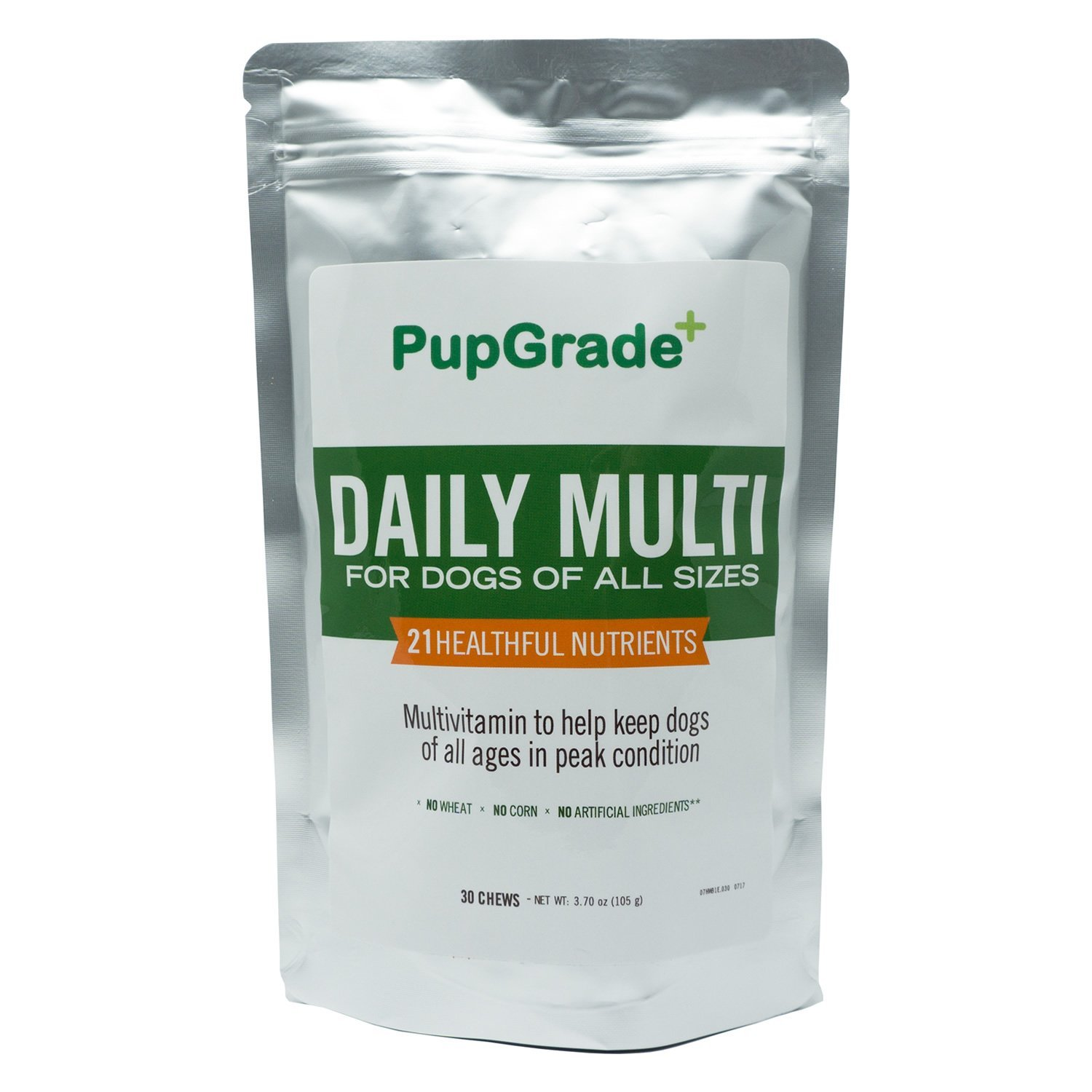 PupGrade Dog Vitamins - Best Daily Multi Vitamin for Dogs, Probiotic Enzymes, Fish Oil (Omega 3 6 9) for Skin & Coat, Vitamins A, C, D & E, All Natural Treats, Made in USA