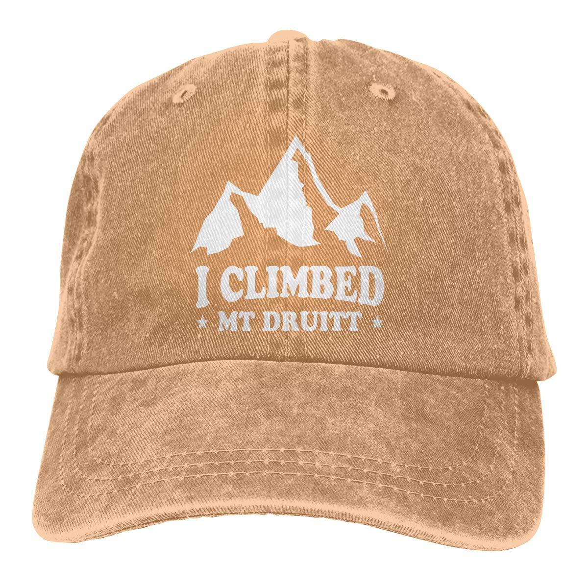 PMGM-C I Climbed MT Druitt Unisex Trendy Cowboy Hat Outdoor Sports Hat Adjustable Baseball Cap