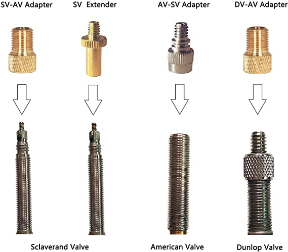 Pump Adaptor Kit 7 Piece Ideal For Balls Airbeds Football Pump Needle Valve