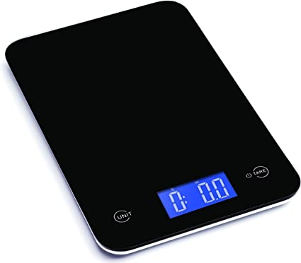 Ozeri Touch Professional Digital Kitchen Scale In Tempered Glass 18 Pound Elegant Black Kitchen Dining Amazon Com