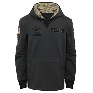 Nike Youth Dallas Cowboys Charcoal Salute to Service Performance Pullover  Hoodie - Size S