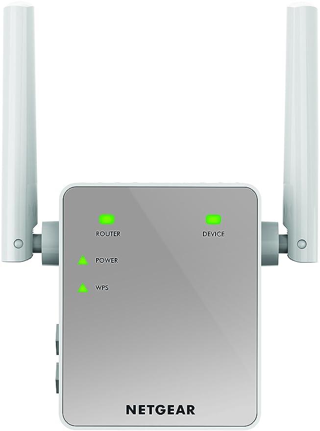 Netgear EX3700-100UKS - Extensor de Red AC750 (Wi-Fi, Dual-Band, Antenas externas, repetidor WiFi, 1 Puerto), Color Blanco [Enchufe inglés]: Amazon.es: ...