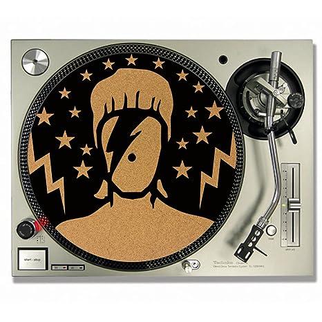 David Bowie Ziggy Stardust corcho DJ Slipmats Tocadiscos/Slip Mats ...