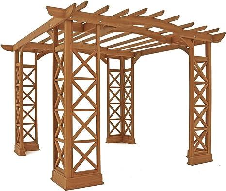 Yardistry arched Roof Pérgola cenadores con peana: Amazon.es: Jardín