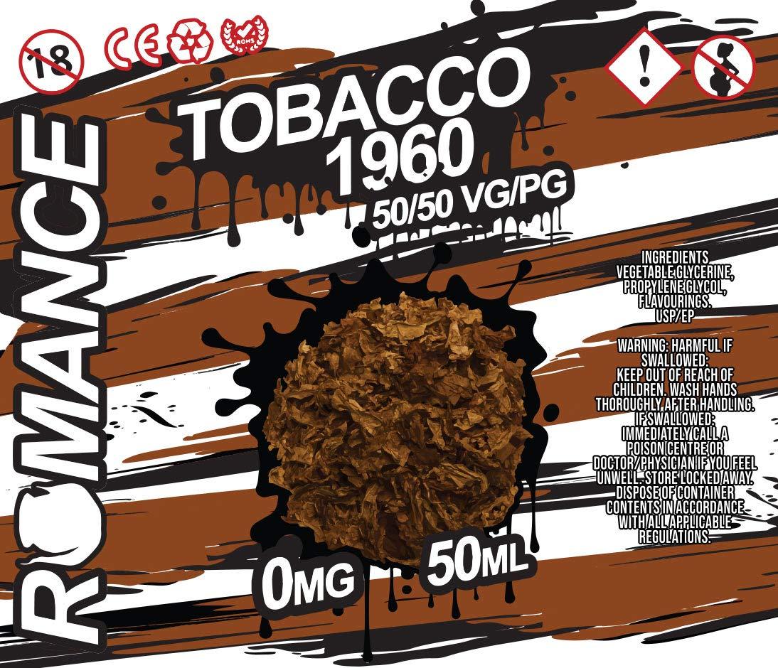 Romance e Liquid Vape Juice 10 fantásticos sabores ricos 50ML 0MG 50/50 PG/VG, sin nicotina (Lemon Cheesecake)