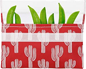 Lunchskins Reusable Snack Food Bag, Red Cactus