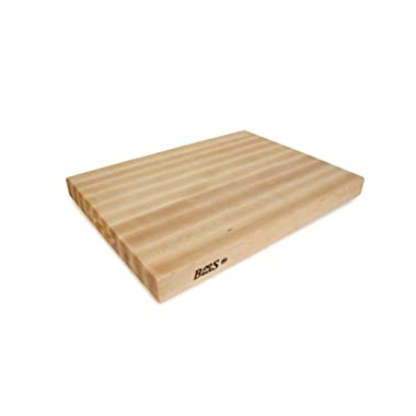 John Boos Block RA03 Maple Wood Edge Grain Reversible Cutting Board, 24 Inches x 18 Inches x 2.25 Inches