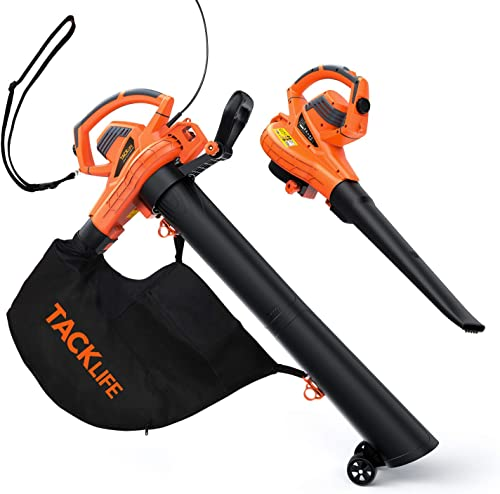 TACKLIFE Leaf Vacuum, 5 Variable Blow Speed, Leaf Blower Vacuum with 45L Collection Bag, 3 in 1 Blower Vacuum Mulcher, KABV35A