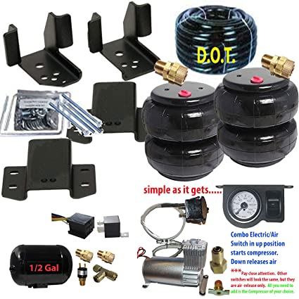 Air Bags Suspension >> Amazon Com 2007 19 Chevy 1500 Tow Assist Over Load Air Bag