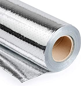 1000 sqft Radiant Barrier Shielding Reflective Insulation Layer (4FT×250FT) Perforated and Breathable Double-Sided Aluminum foil Woven Insulation Material, (4FT×250FT)