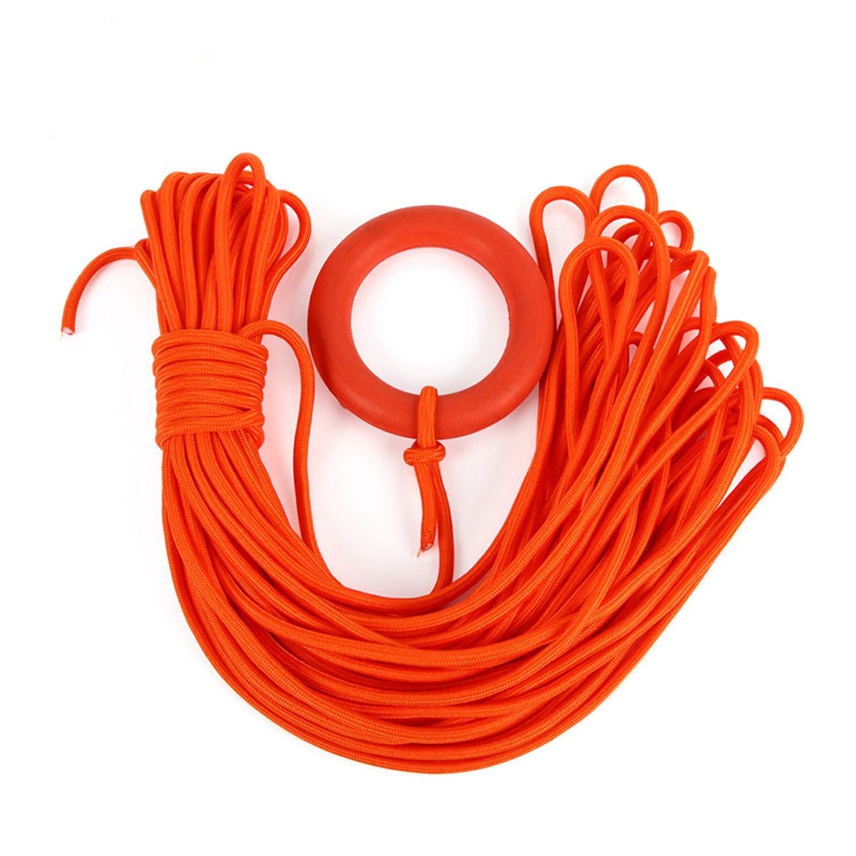 YOZOOE Water Rescue Snorkeling Rope, 30m Lifeline with Floating Ring Bracelet, Each Bundle of 8mm Diameter, Camping Gear by YOZOOE
