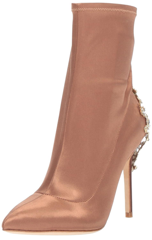 Badgley Mischka Women's Meg Ankle Boot B0734ZQ4PL 9.5 B(M) US|Dark Nude