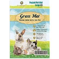 "SunGrow Rabbit Seagrass Mat, 7.8"" x 11"", Edible, Handmade, Hay Mat for Sleeping, Chewing, Nesting, Great Boredom Buster…"