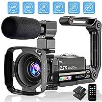Video Camera 2.7K Camcorder Ultra HD 36MP Vlogging Camera for YouTube IR Night Vision 3.0