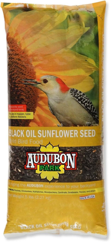 Audubon Park 12259 Black Oil Sunflower Seed Wild Bird Food, 5-Pounds