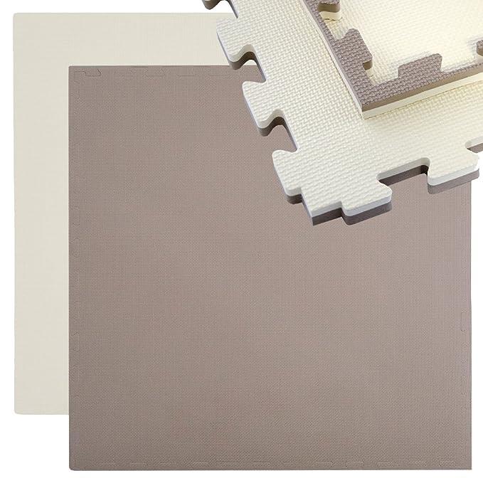 4 Bodenmatten je 63x63cm Sportmatte 20mm dicke Puzzle-Steckmatten inkl Umrandung