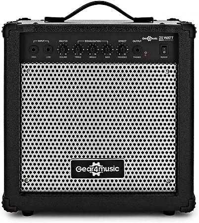 Amplificador de Bajo Eléctrico de 25 W de Gear4music