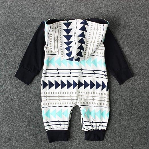 Vestiti Per Neonati Invernale Abiti Cerimonia Bambino 2 3 4 Anni  Abbigliamento Neonato Neonato Bambini Ragazzi Ragazze Geometria Stampa  Incappucciato Romper ... 7396a9e24a1