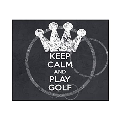 Makoroni - Keep Calm and Play Golf - 30 psc. Jigsaw Puzzle: Toys & Games