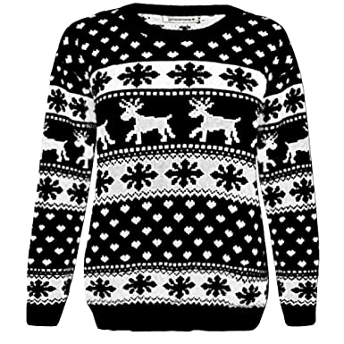 Janisramone Girls Boys New Kids Christmas Reindeer Snowflake ...