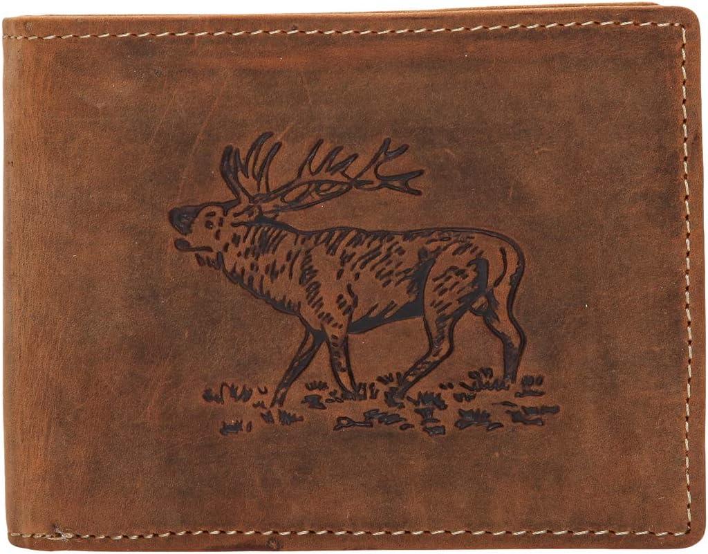 Greenburry Vintage 1705-RS Leder Geldbeutel Geldbörse Portemonnaie mit Münzfach