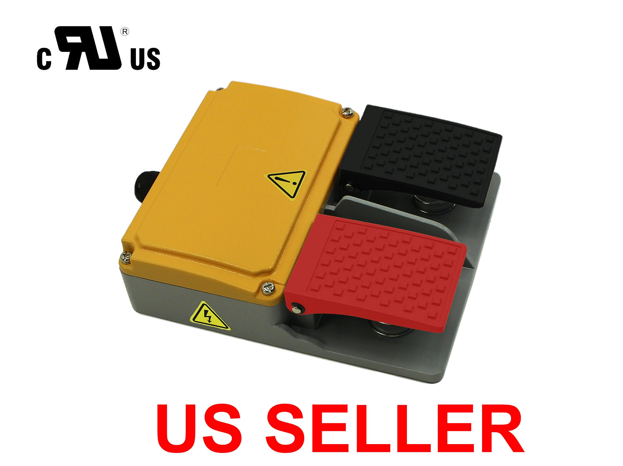 Double Action Foot Switch Heavy Duty Industrial Pedal All ALUIMINUM CAST
