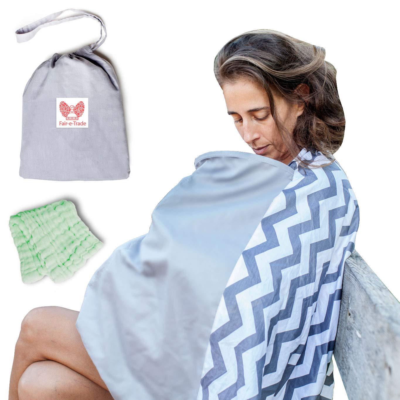 Fair-e-Trade Poncho Rigid Neckline Nursing Cover, 100% Premium Breathable Cotton by Fair-e-Trade (Image #1)