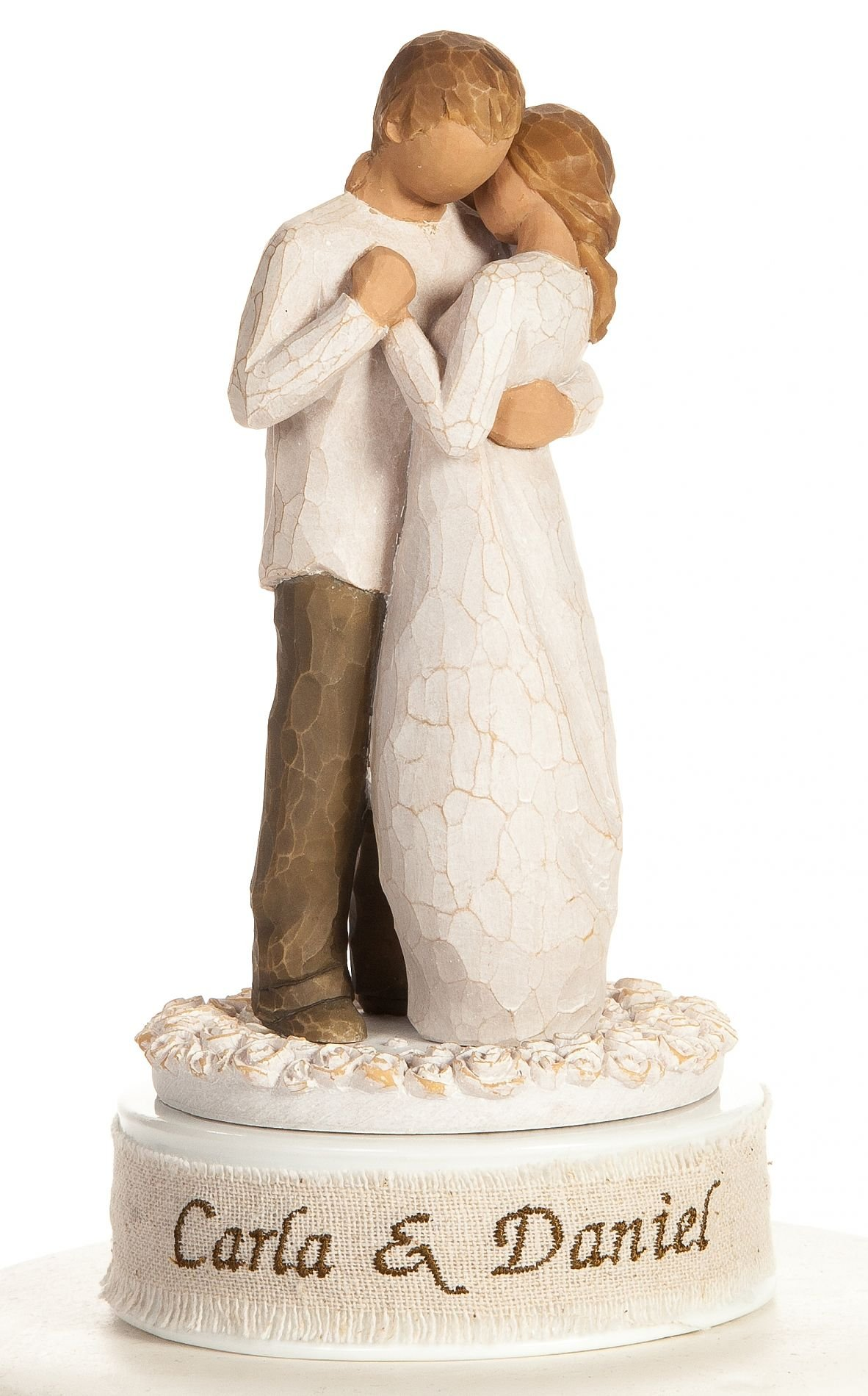 Personalized Embroidery Willow Tree''Promise'' Wedding Cake Topper By Wedding Collectibles