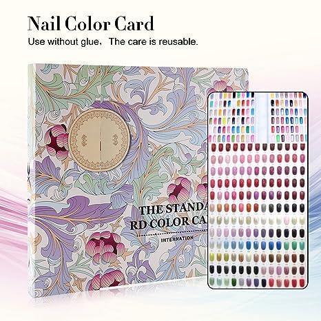 Nail Art Display libro de cartas de colores 120 colores Nail Tips herramientas de almacenamiento (Las uñas no están incluidas)(#1)