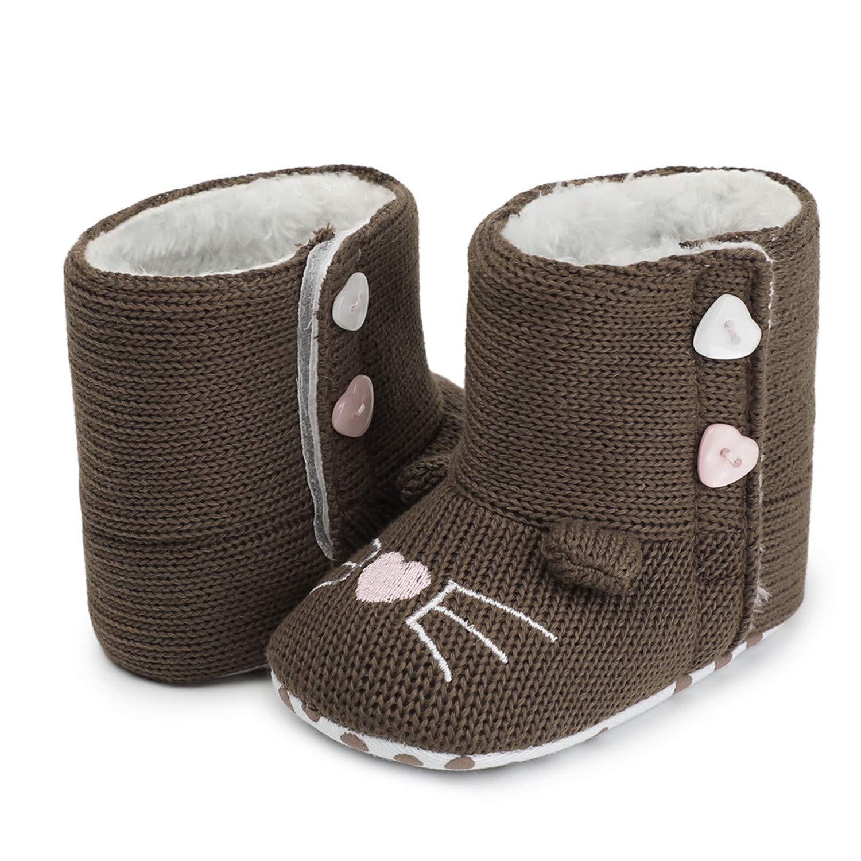 Fralina Newborn Shoes Baby Boy Winter WAM Snow Booties Faux Fleece Footwear Toddler Soft First Walkers