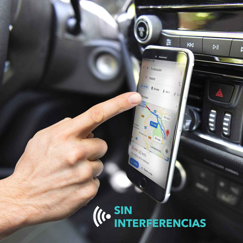 lunmind Support magn/étique de t/él/éphone Portable pour Voiture Base de t/él/éphone avec Aimant pour Grille da/ération avec Rotation /à 360 /° Support Universel de Tableau de Bord pour Smartphones