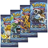 "Pokemon XY12 ""Evolutions"" 4x Booster Packs = 40 Additional Cards for Pokemon Trading Card Game (English)"