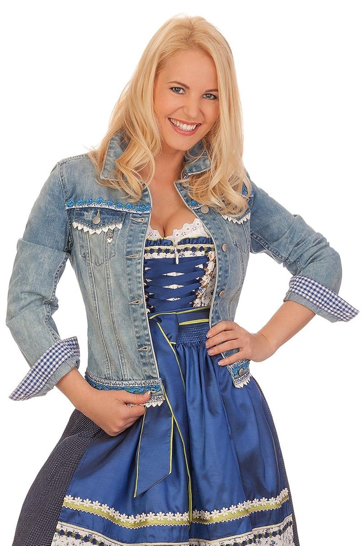 Damen Trachten Jeansjacke - ALESSA - hellblau