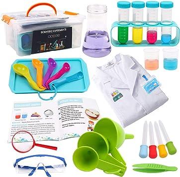 DigHealth Laboratorio de Quimica, Kit Ciencias Niños con Bata de Laboratorio, Juguetes Educativos con Caja de Almacenaje para Niños Niñas de 5-11 años: Amazon.es: Juguetes y juegos
