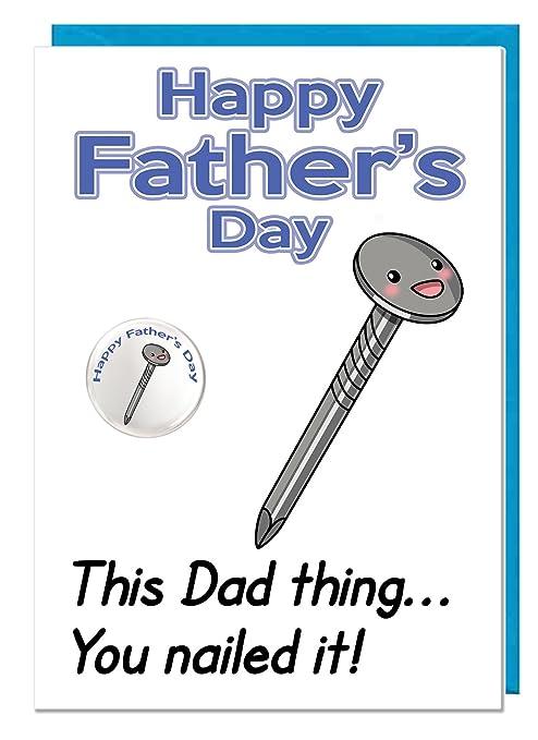 Divertida tarjeta temática de humor para el día del padre y ...