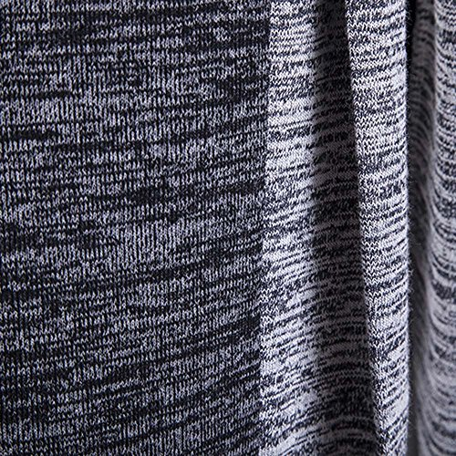 Coat Knitwear Trench Knitted Cardigan Shirt Dark Knitted Fit Jumpers Long Sleeve Long Open Front HARRYSTORE Mens Cardigan Gray Outwear Slim 5vzwZxqY