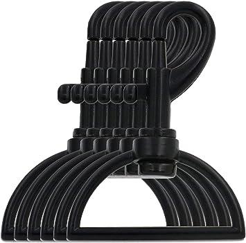 BIKICOCO Karabinerhaken mit Karabinerverschluss 1 1//2 Zoll 3,8 cm ovalem Ringende mit Drehgelenk Schwarz 4 St/ück