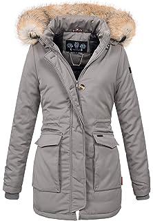 3bb05126c53ce6 Navahoo Damen Winter Jacke Parka Mantel Winterjacke warm gefütterte Kapuze  B612
