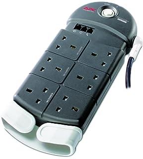 apc pbt uk essential surgearrest outlets phone protection apc ph6t3 uk home office surgearrest 6 outlets protection 230v uk