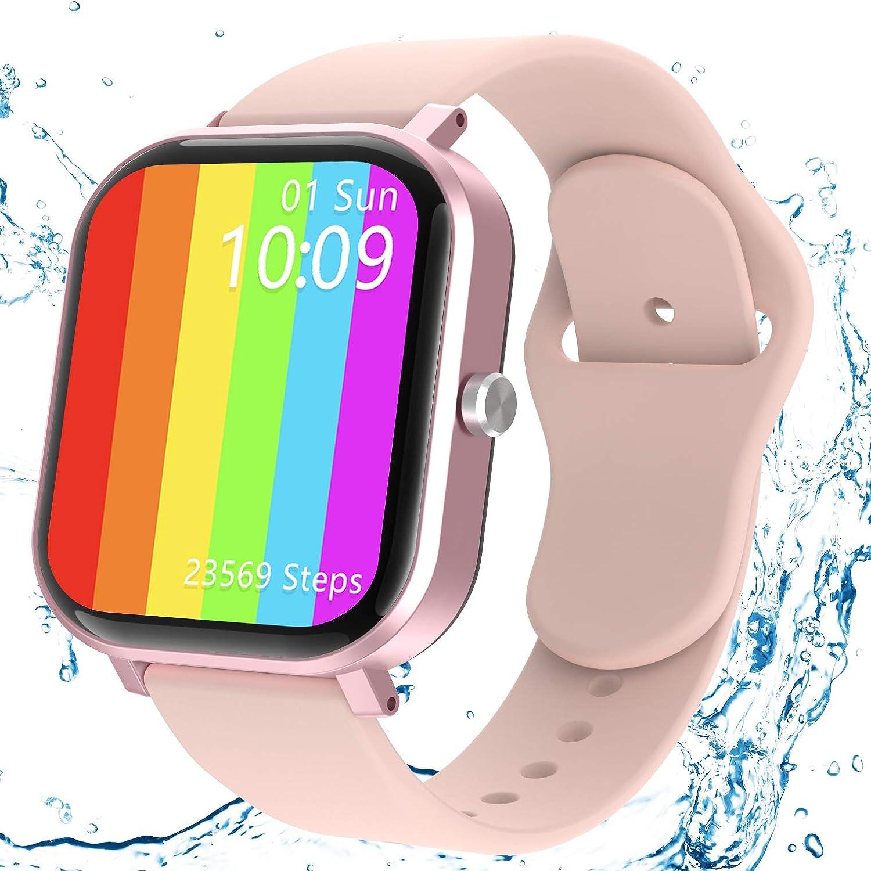 Smartwatch, JAMSWALL Reloj Inteligente Mujer Hombre para Android IOS, Smartwatch Impermeable IP67 con Pantalla de 1,75 Pulgadas, Monitor de Frecuencia Cardíaca, Calorías, Monitor de Sueño, Podómetro