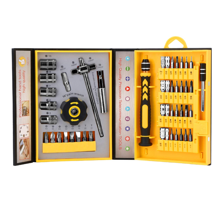 Screwdriver Bit Set Socket Wrenches, Professional Electronics Precision Magnetic Driver Micro Repair Tool Kit