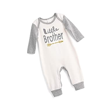 eb3c2604567d Amazon.com  Tesa Babe Little Brother Romper for Newborns   Baby Boys ...