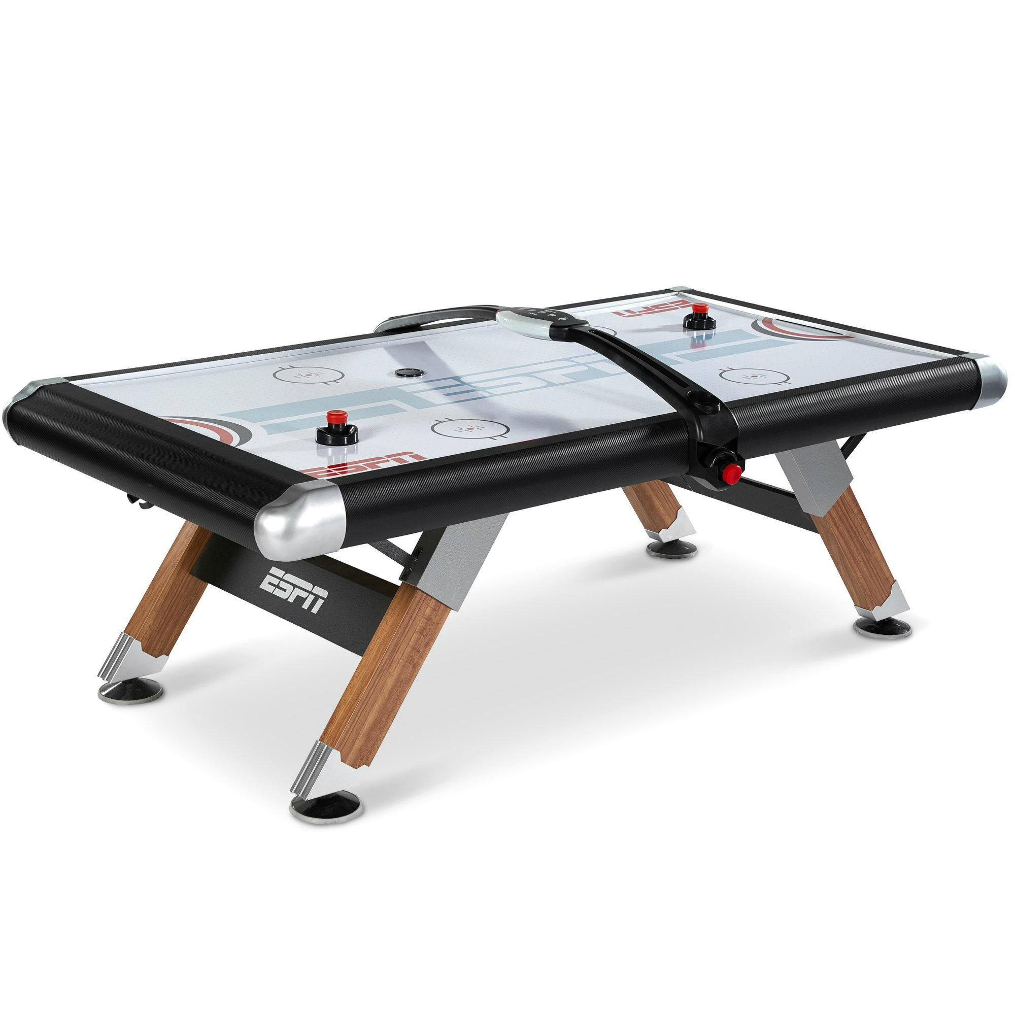 ESPN Air Hockey Table with Overhead Electronic Scorer and Table Cover Family Indoor Game 8 Ft. by ESPN