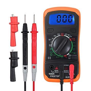 Proster Multímetro Digital / Mini Multímetro Portátil Medidor DMM ...