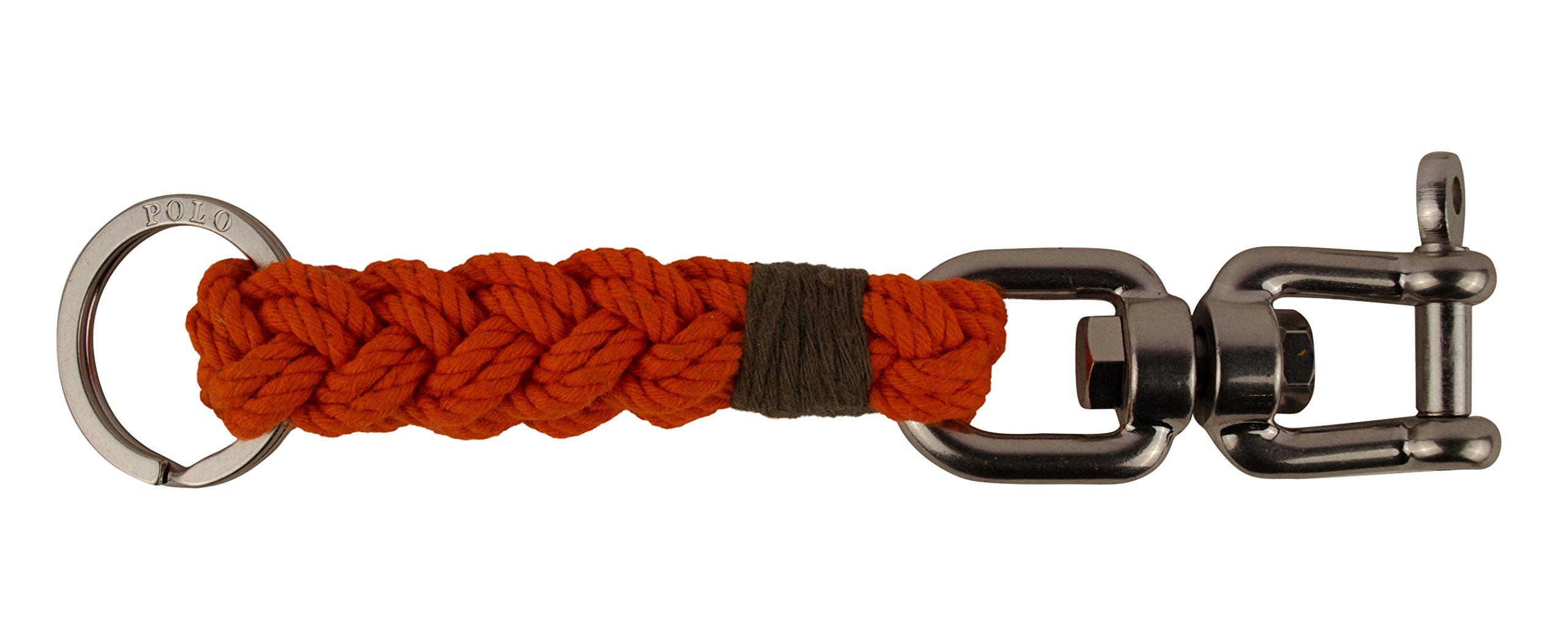 Polo Ralph Lauren Swivel Pin Braided Key Fob Key Chain-O-OS