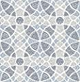 A-Street Prints 2764-24335 Zazen Blue Geometric Wallpaper