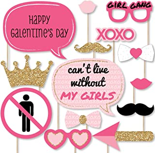 product image for Big Dot of Happiness Be My Galentine - Galentine's and Valentine's Day Party Photo Booth Props Kit - 20 Count